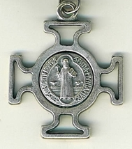 "Key Ring - St. Benedict Medal - 1 1/2"" x 1 1/2"" - L105.0578 image 2"