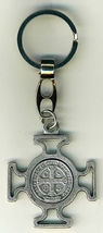 "Key Ring - St. Benedict Medal - 1 1/2"" x 1 1/2"" - L105.0578 image 3"