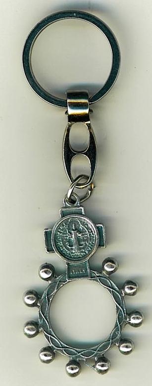 Key ring   st. benedict medal   finger rosary 105.0228 001