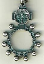Key Ring - St. Benedict Medal - Finger Rosary - 105.0228 image 4