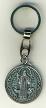 "Key Ring - St. Benedict Medal - 1 1/4"" in diameter - L105.0413"