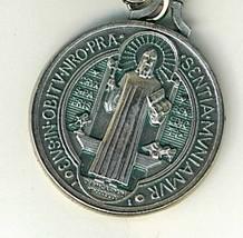 """Key Ring - St. Benedict Medal - 1 1/4"""" in diameter - L105.0413 image 2"""