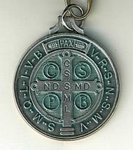 """Key Ring - St. Benedict Medal - 1 1/4"""" in diameter - L105.0413 image 4"""