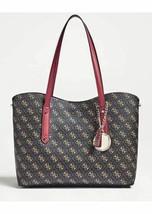 Guess Women's Handbag Shopper Aline Clutch Bag Print Logo with Zipper and Strap - $154.90