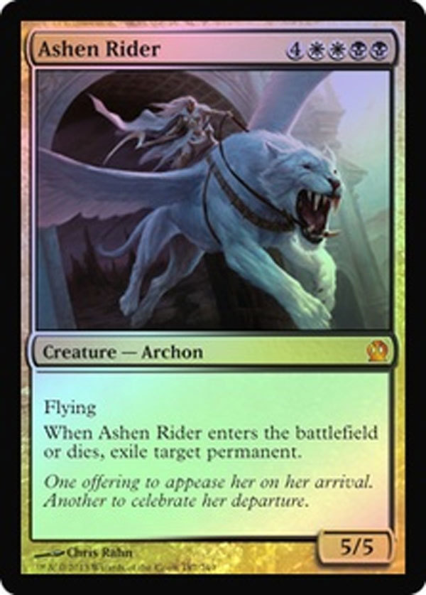 "Magic the Gathering MTG ""Ashen Rider"" Foil Card x1 * NM [CB]"