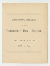Peterborough NH High School antique vintage graduation program 1892 ephe... - $24.00