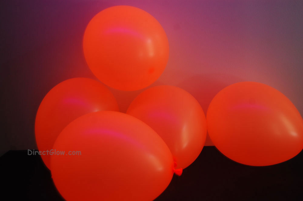 11 inch Orange Blacklight Reactive Latex Balloons- 50 pack