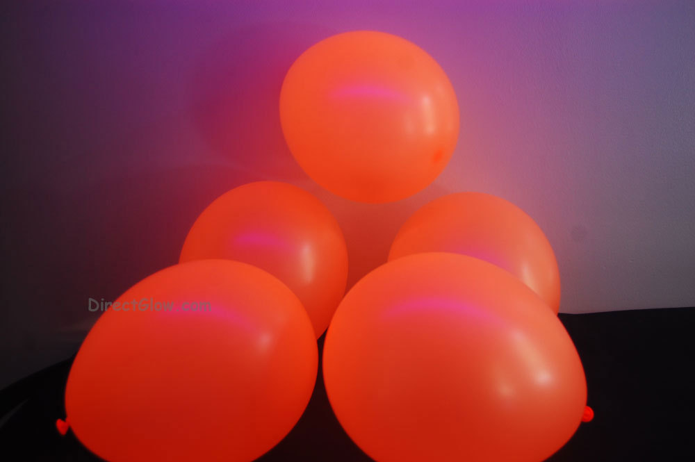 Primary image for  11 inch Orange Blacklight Reactive Latex Balloons- 50 pack