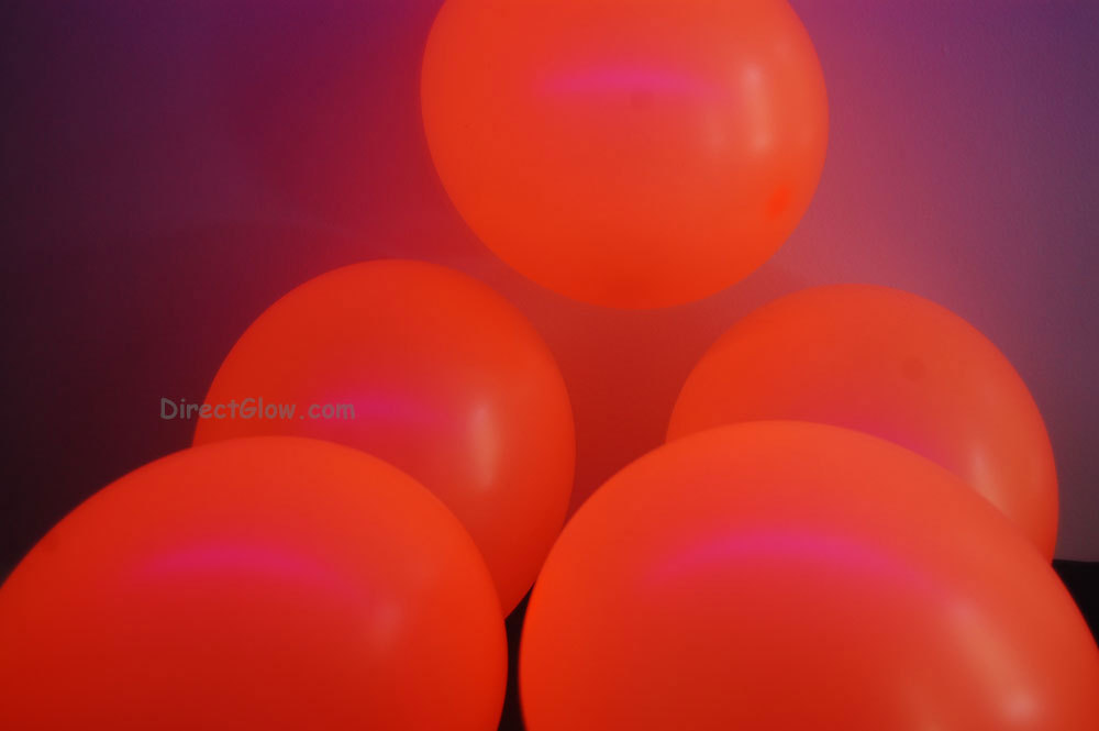 Primary image for  11 inch Orange Blacklight Reactive Latex Balloons- 100 pack