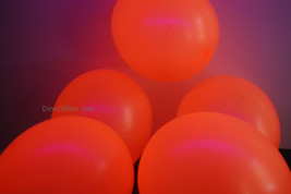 11 inch Orange Blacklight Reactive Latex Balloons- 100 pack - $29.95