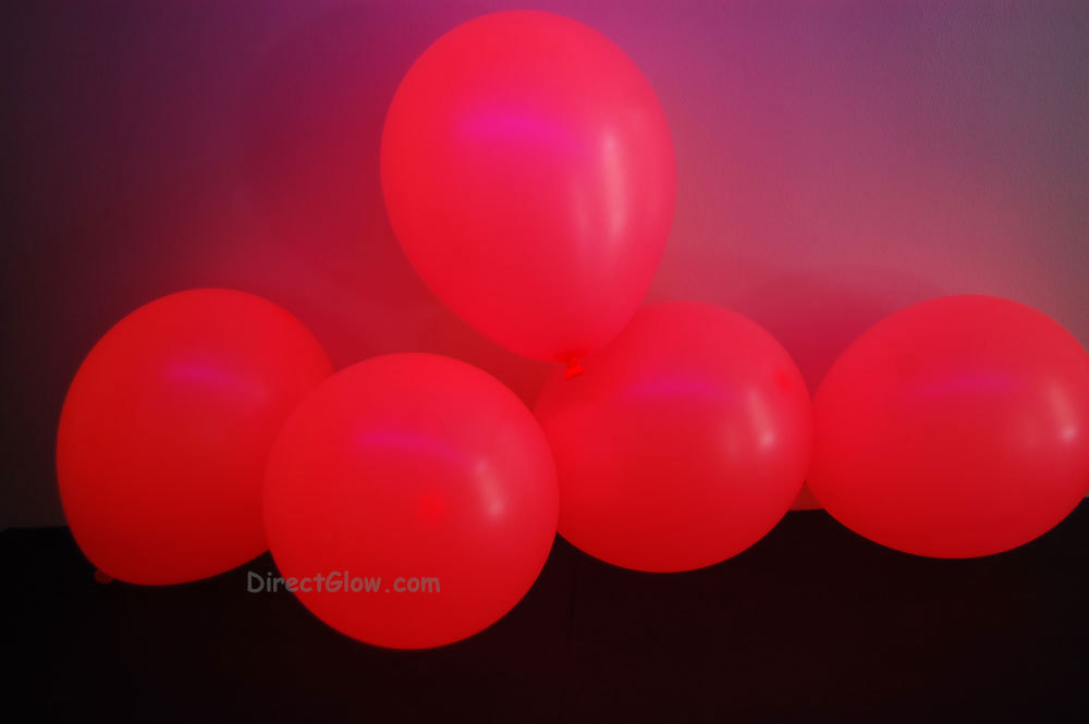11 inch Pink Blacklight Reactive Latex Balloons- 100 pack