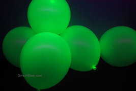 11 inch Green Blacklight Reactive Latex Balloons- 25 pack - $8.95