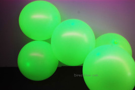 11 inch Yellow Blacklight Reactive Latex Balloons- 50 pack - $15.95