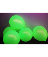 11 inch Yellow Blacklight Reactive Latex Balloons- 25 pack - $8.95