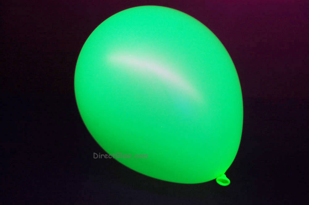 11 inch Yellow Blacklight Reactive Latex Balloons- 25 pack
