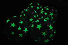 11 inch Glow in the Dark Stars Latex Balloons-  25 pack - $17.95