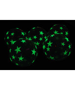 11 inch Glow in the Dark Stars Latex Balloons-  10 pack - $8.95