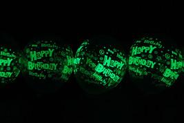 11 inch Glow in the Dark Happy Birthday Latex Balloons-  25 pack - $18.95