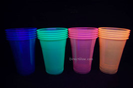 Neon Blacklight Reactive Soft Plastic 16oz Pint Glasses - 20 ct - $8.95