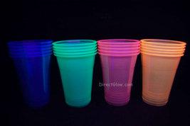 Neon Blacklight Reactive Soft Plastic 16oz Pint Glasses - 20 ct - $8.95