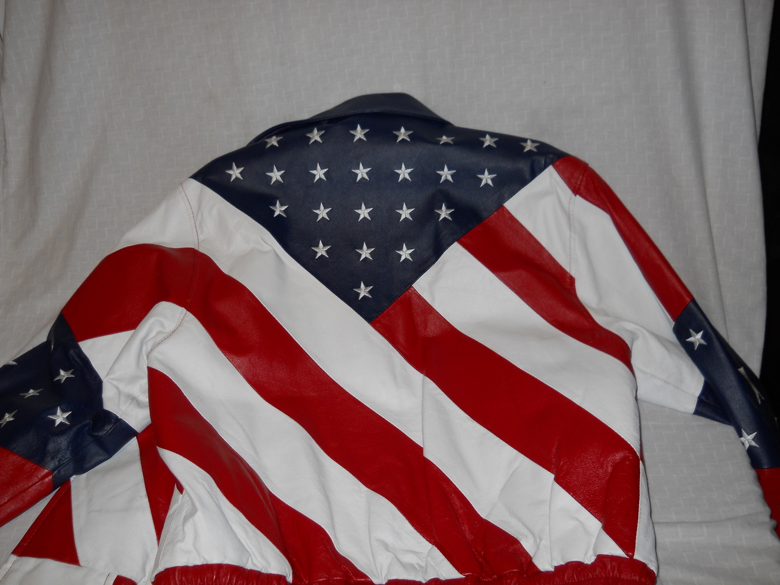American Flag Stars & Stripes Red White Blue By USA Leathers Motorcycle Extra LG image 7