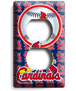 ST LOUIS CARDINALS BASEBALL TEAM OUTLET WALL PLATE COVER MAN CAVE ROOM A... - $9.99