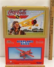 Ertl Coca-Cola 1929 Lockheed Air Express + RC Budweiser Diecast Coin Ban... - $32.71