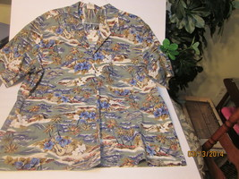 ROYAL CREATIONS CASUAL HAWAIIAN STYLE SHIRT / XXL / 1 BRT PKT/100% COTTON - $20.99