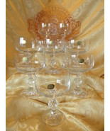 Bohemia Co Czech Fine Lead Crystal Vintage Claudia Champagne Coupes - Se... - $60.00