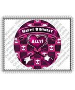 """2"""" Round Rockin' Hottie Birthday Skull, Pink, G... - $14.26 CAD"""