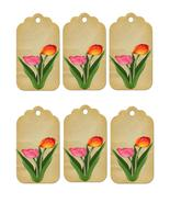 6 Flower Tags16-Download-ClipArt-ArtClip-Digital  - $3.00