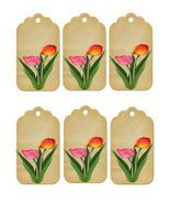 6 Flower Tags16-Download-ClipArt-ArtClip-Digital  - $4.00