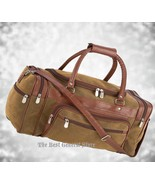 "Brown 23"" Faux Leather Lined Tote Duffle Bag Luggage Gym Travel Overnigh... - $39.98"