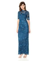 Adrianna Papell Guipure Robe Longue, Soirée Sky, 6 - $119.15