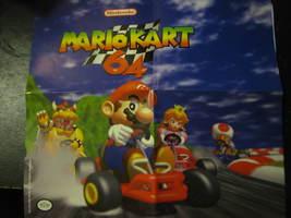 "(MX-5) Vintage Nintendo 64 Promotional Poster: Mario Kart 64 - 12"" x 12""  - $5.00"