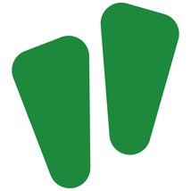 LiteMark Green Removable Robot Footprint Decal Stickers - Pack of 12 - $19.95