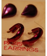 Shades of Purple Metallic Post Earrings FREEBIE - $0.00