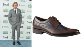 Handmade Dax Shepard Wearing two tone brogue formal leather shoes, Mens ... - $159.99