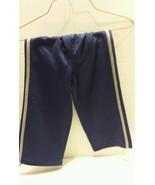 Athletic Pants Striped Polyester Knit Toddler Boys Navy Blue  24m - $6.79