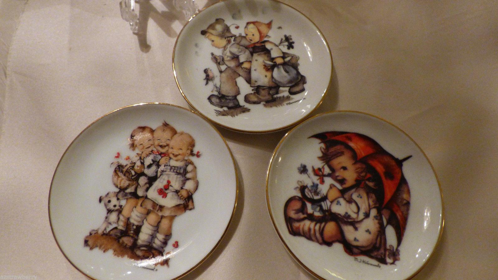 Set of 3 Rare Reutter Porzellan M.J.Hummel Miniature Plates 4