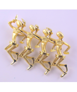 Vintage dancing people ballerinas natives brooc... - $25.00