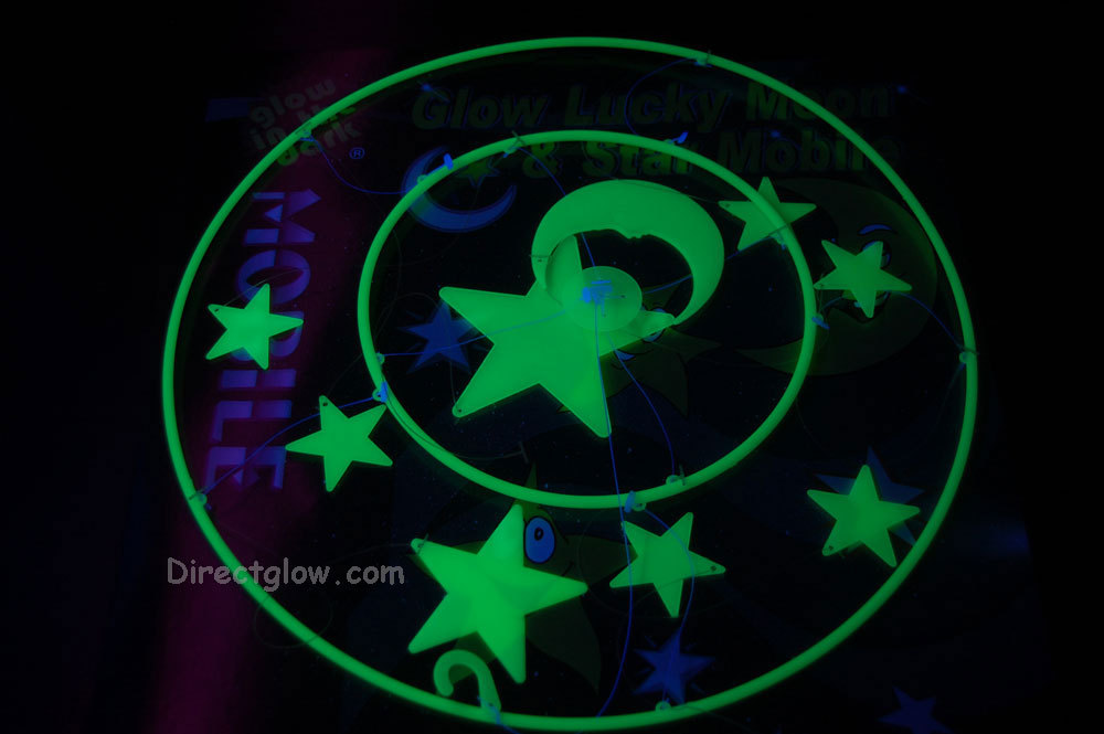 9 Piece Glow in the Dark Stars Hanging Mobile