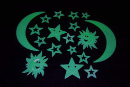 18 Piece Glow in the Dark Smile Stars & Suns - $5.95