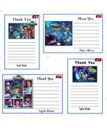 Miles From Tomorrowland Birthday Thank You Cards 10 ea Personaslized - $6.00