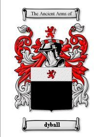 DYBALL SURNAME COAT OF ARMS PRINT - GENEALOG Bonanza