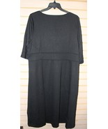 NEW LANDS END SIZE 20W ELBOW LENGTH BLACK BELL SLEEVE DRAPEY PONTE V NEC... - $18.37