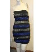 NEW WOMENS JUNIORS SIZE MEDIUM 7-9 BLUE STUDDED TUBE SEXY PARTY CLUB DRESS - $4.99