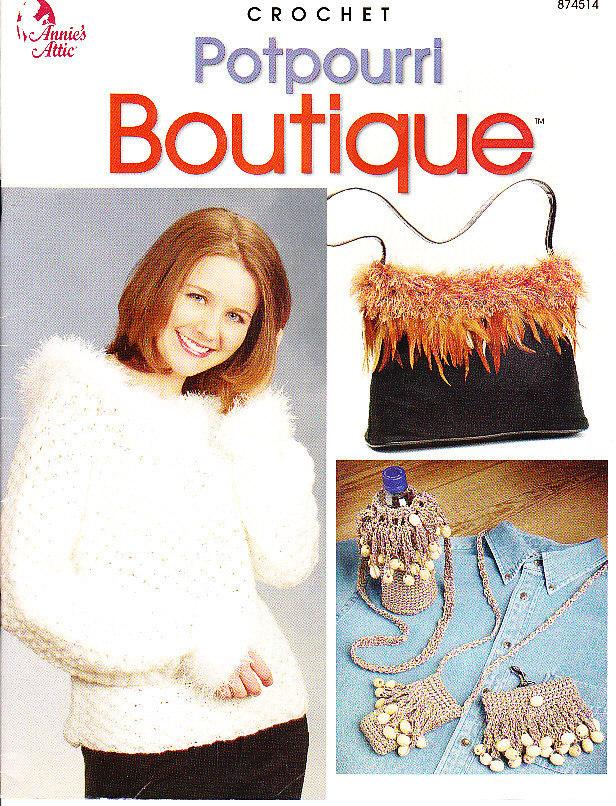 CROCHET * 18 * Annies Attic Potpourri Boutique - $3.49