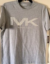Michael Kors Men's Gray Tee Shirt MK Logo on Front Size M, L, XL  MRSP $... - €34,31 EUR