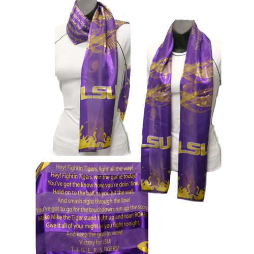 LSU Louisiana State Tigers Officialy Licensed Ncaa Fight Song Musical Scarf